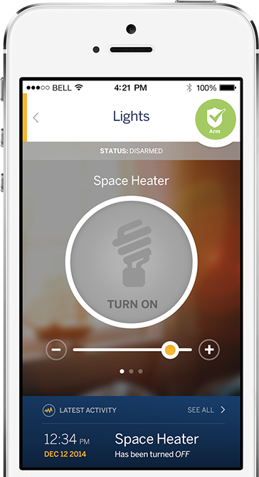 control lights, space heaters and more with ADT Pulse