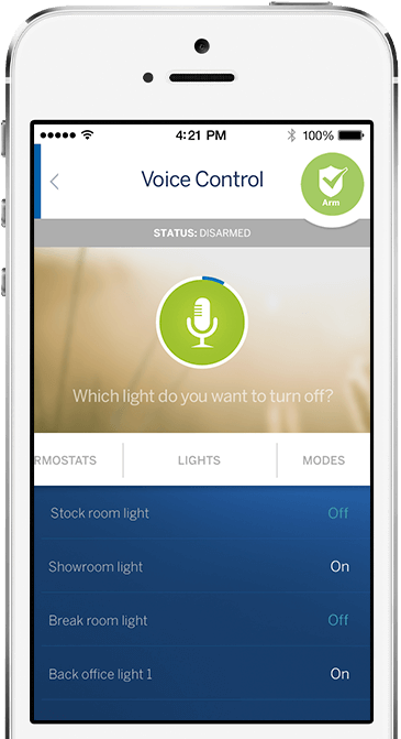 ADT Pulse Business Voice Control