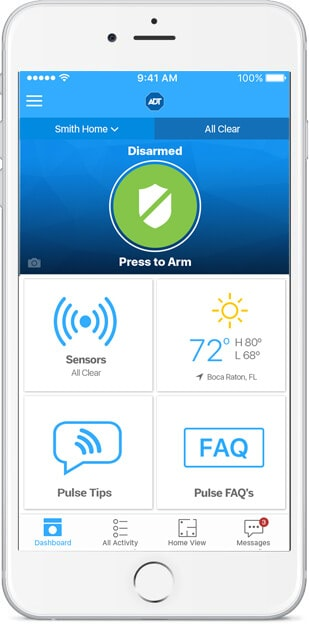 Smart home security from ADT