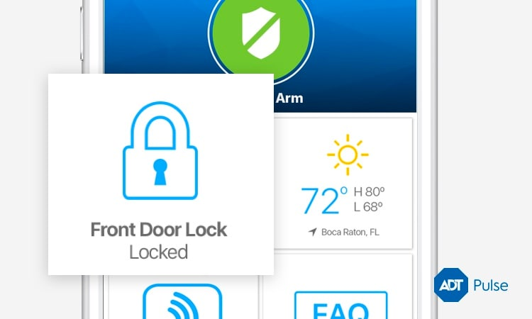 Remotely lock your doors, arm your system and turn on interior lights.