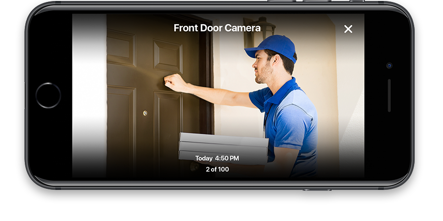 View your security cameras through your mobile device.
