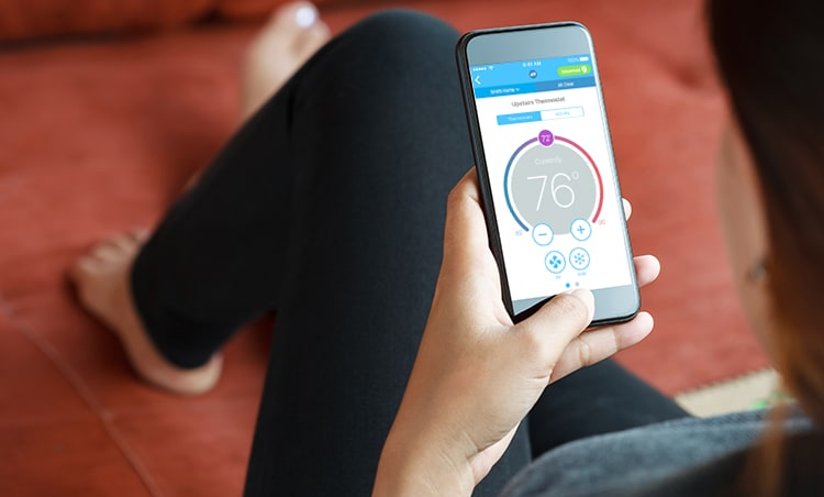 Your Phone Is Your ADT Thermostat Control