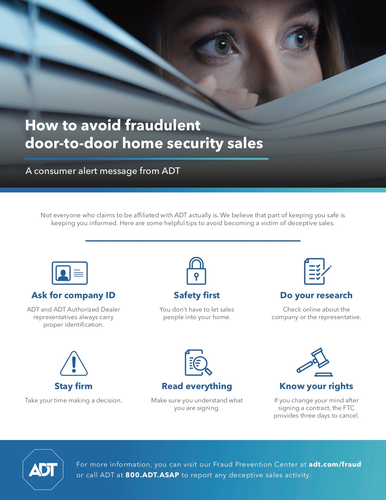 Safety Tips And Facts How To Spot Deceptive Sales Scams Adt