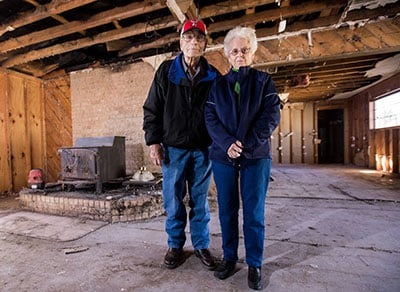 Garland and Barbara Schoor in their Lubbock, Texas home.