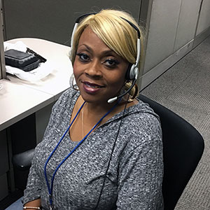 ADT Dispatcher, Sandra West