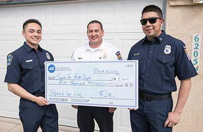 Santa Fe Fire Department was presented a check for $5,000.