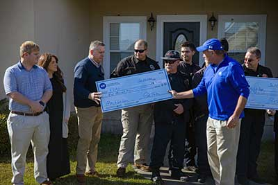 The Glynn County Fire Department were presented with a $5,000